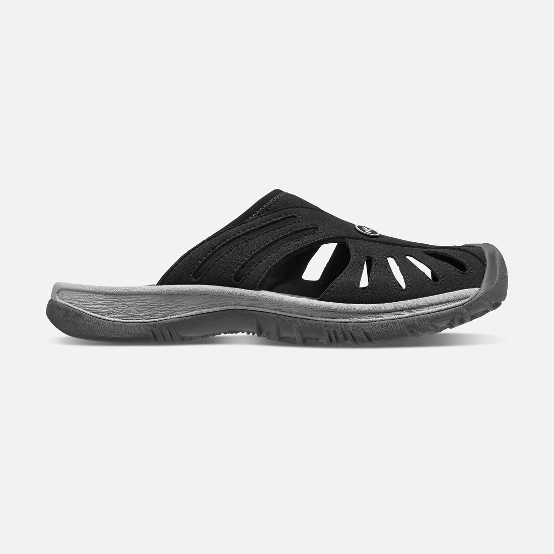Women's Rose Slide in Black/Neutral Gray - large view.