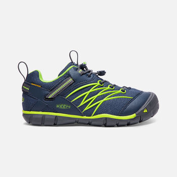 Older Kids' Chandler Cnx Waterproof Trainers in Dress Blues/Greenery - large view.