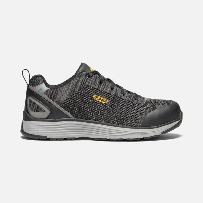 Men's Sparta ESD (Aluminum Toe) in BLACK/GREY FLANNEL - large view.
