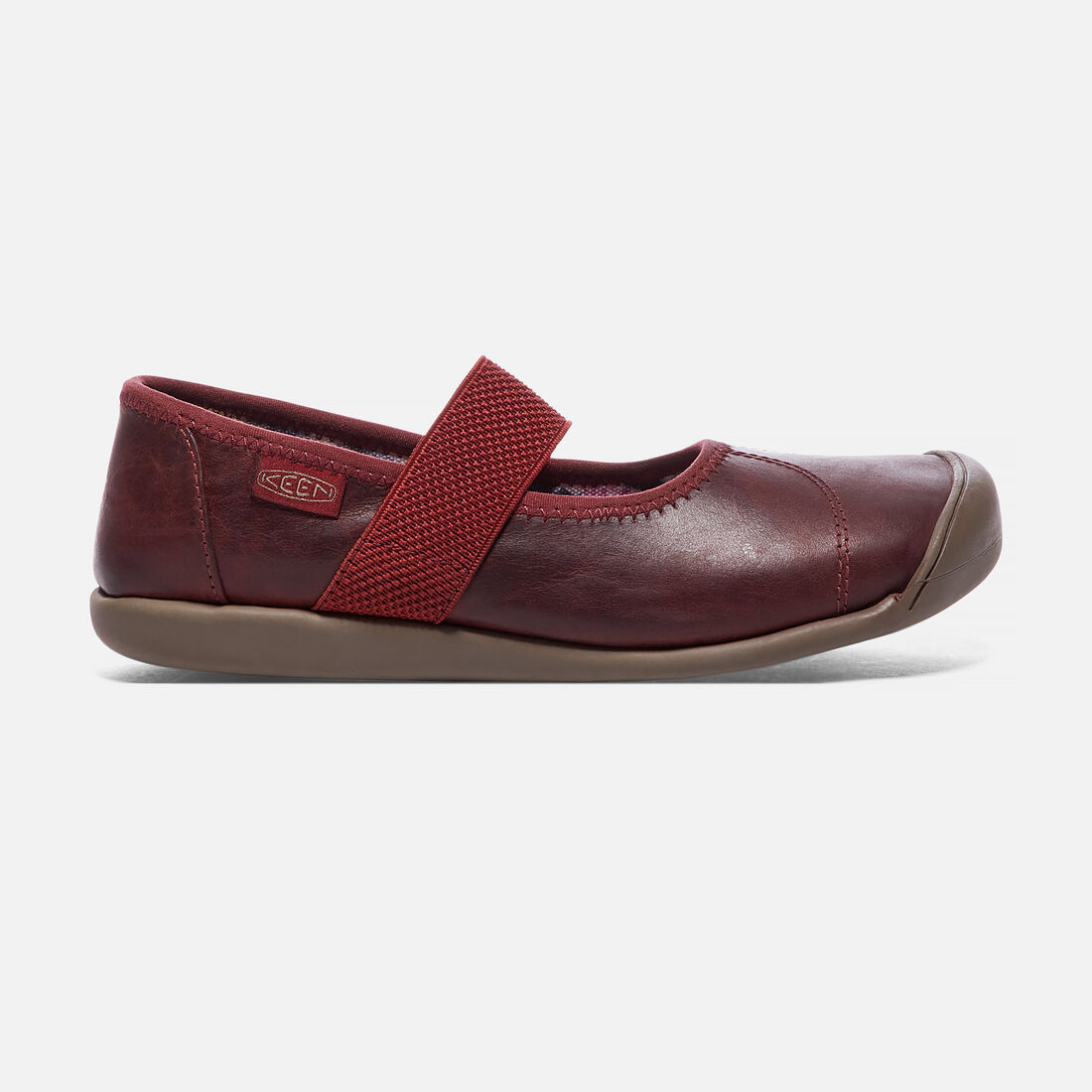 Women's Sienna Leather Mary Jane in Cinnamon Roll/Syrah - large view.