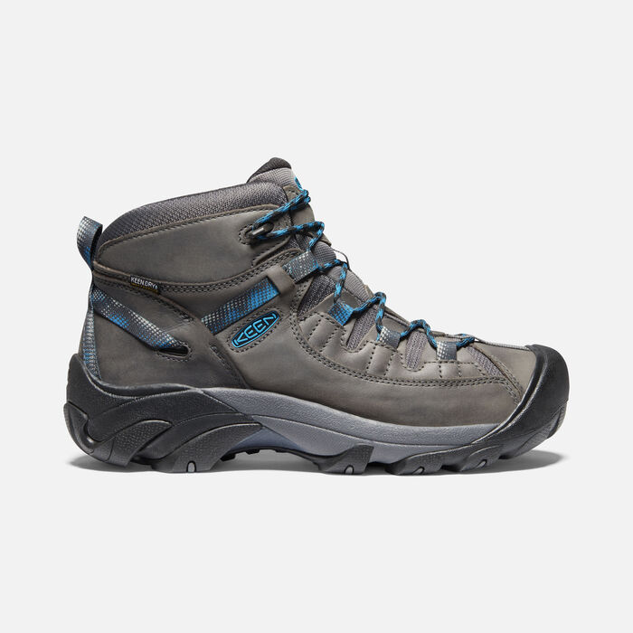 Men's Targhee II Waterproof Mid in Steel Grey/Mykonos Blue - large view.