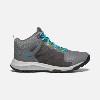 Women's Explore Waterproof Hiking Boots in STEEL GREY/BRIGHT TURQUOISE - large view.