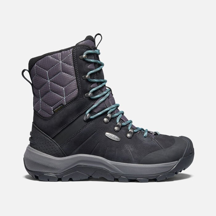 Women's Revel IV High Polar Boot in Black/North Atlantic - large view.