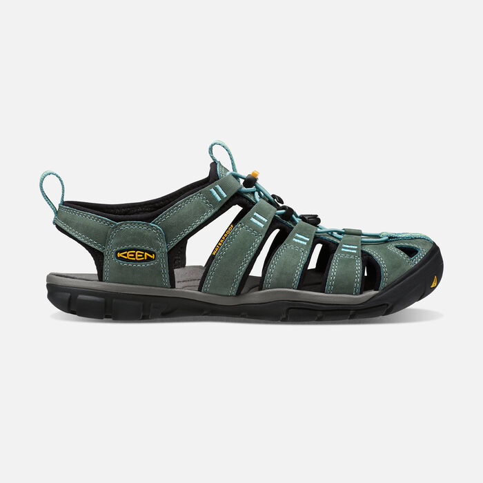 Women's Clearwater Leather Cnx Sandals in Mineral Blue/Yellow - large view.