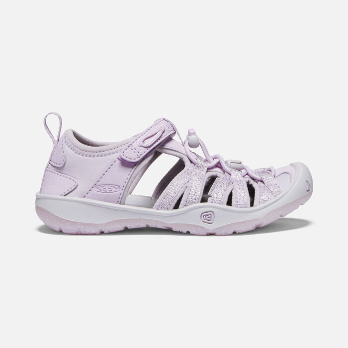 Younger Kids' Moxie Sandals in Lavender Fog/Metallic - large view.