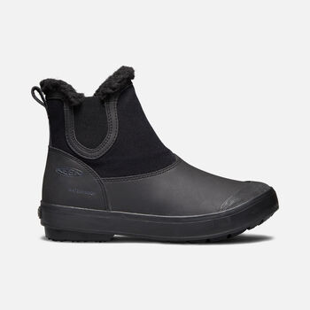 WOMEN'S ELSA CHELSEA WINTER BOOTS in Black/Black - large view.
