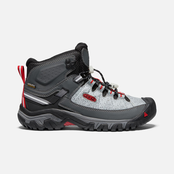 WOMEN'S TARGHEE EXP WATERPROOF MID HIKING BOOTS in STONE/FIRE RED - large view.