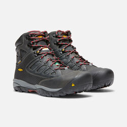 CSA Doverland Waterproof Mid (Steel Toe) pour homme in Magnet/Chili Pepper - small view.