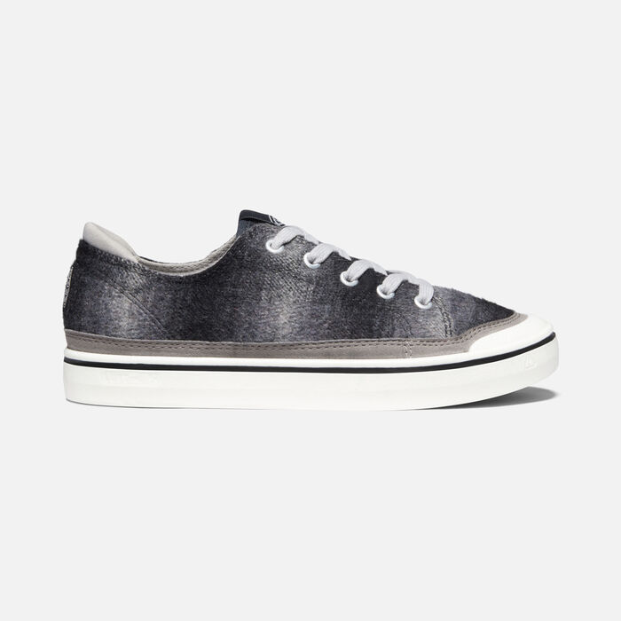 Women's Elsa IV Sneaker in Black Plaid/White - large view.