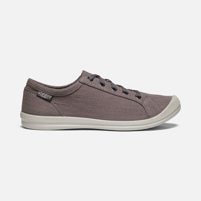 Women's Lorelai Hemp Casual Trainers in Magnet - large view.