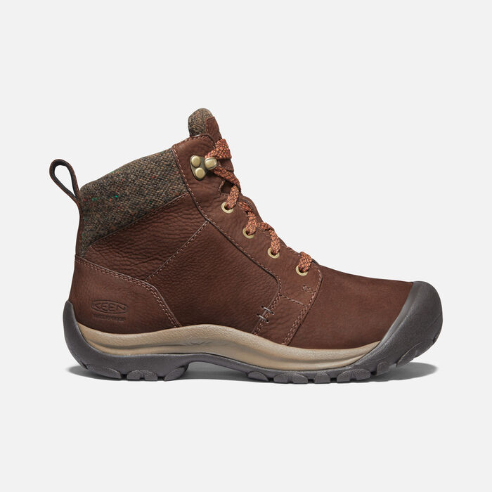 Women's Kaci II Winter Waterproof Boot in Chestnut/Canteen - large view.