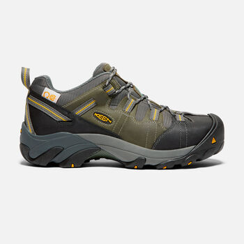 CSA Oshawa Low (Steel Toe) pour homme in Black/Green - large view.