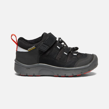 HIKEPORT CHAUSSURES DE MARCHE IMPERMÉABLES POUR ENFANTS in BLACK/BRIGHT RED - large view.