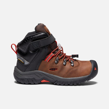 Torino II Waterproof bottes imperméables pour Enfants in TORTOISE SHELL/FIREY RED - large view.