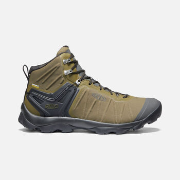 MEN'S VENTURE WATERPROOF MID HIKING BOOTS in DARK OLIVE/RAVEN - large view.