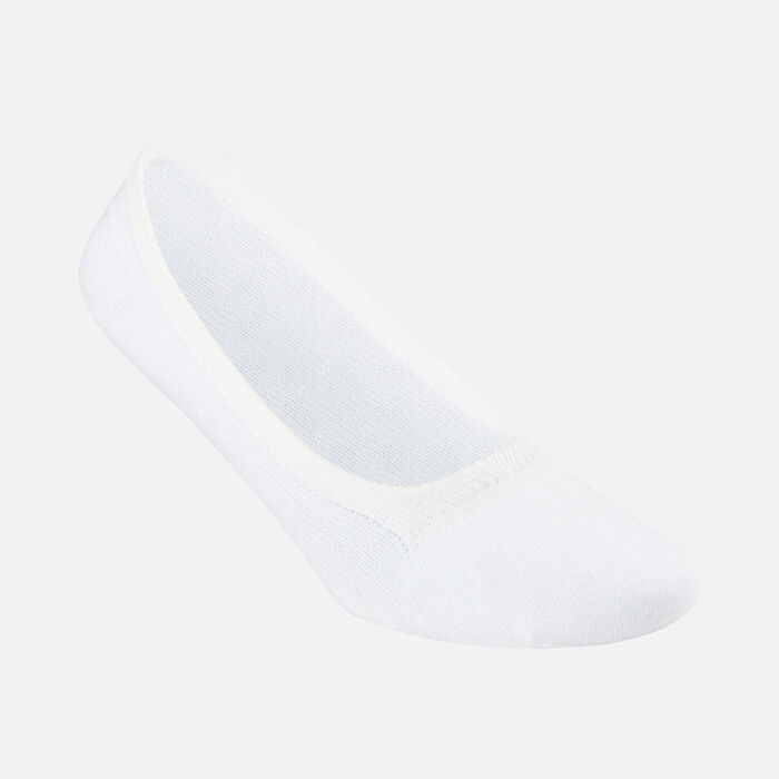 Women's Liner Sock in WHITE - large view.