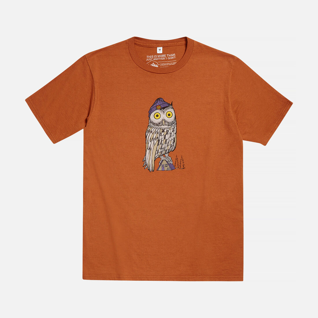 Men's PERCHED T-SHIRT in Nutmeg - large view.