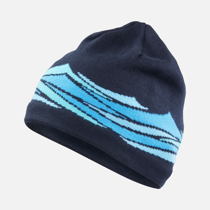 Wave Beanie in NAVY - large view.