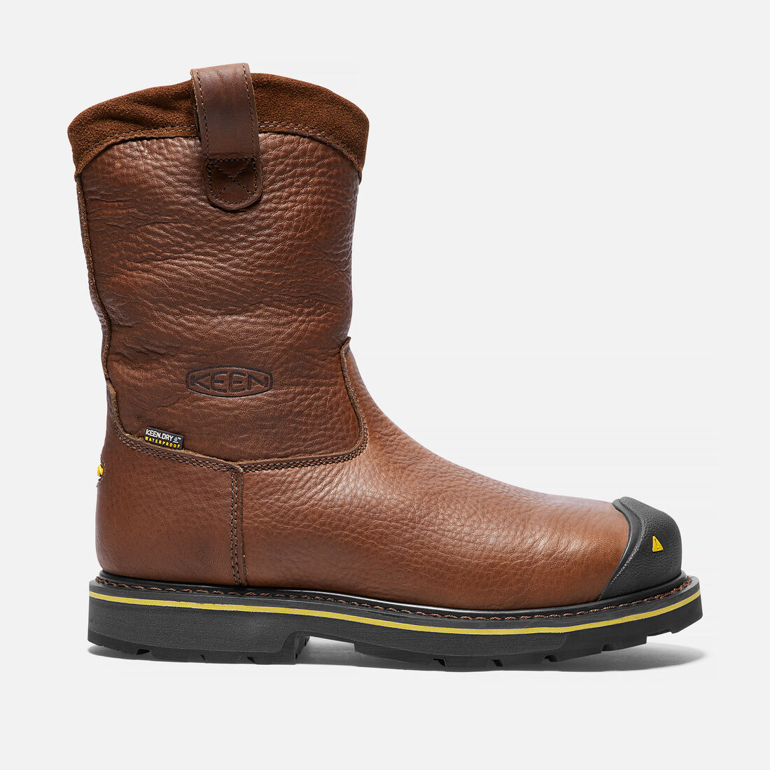 Men's Dallas Wellington (Steel Toe) in Dark Brown - large view.