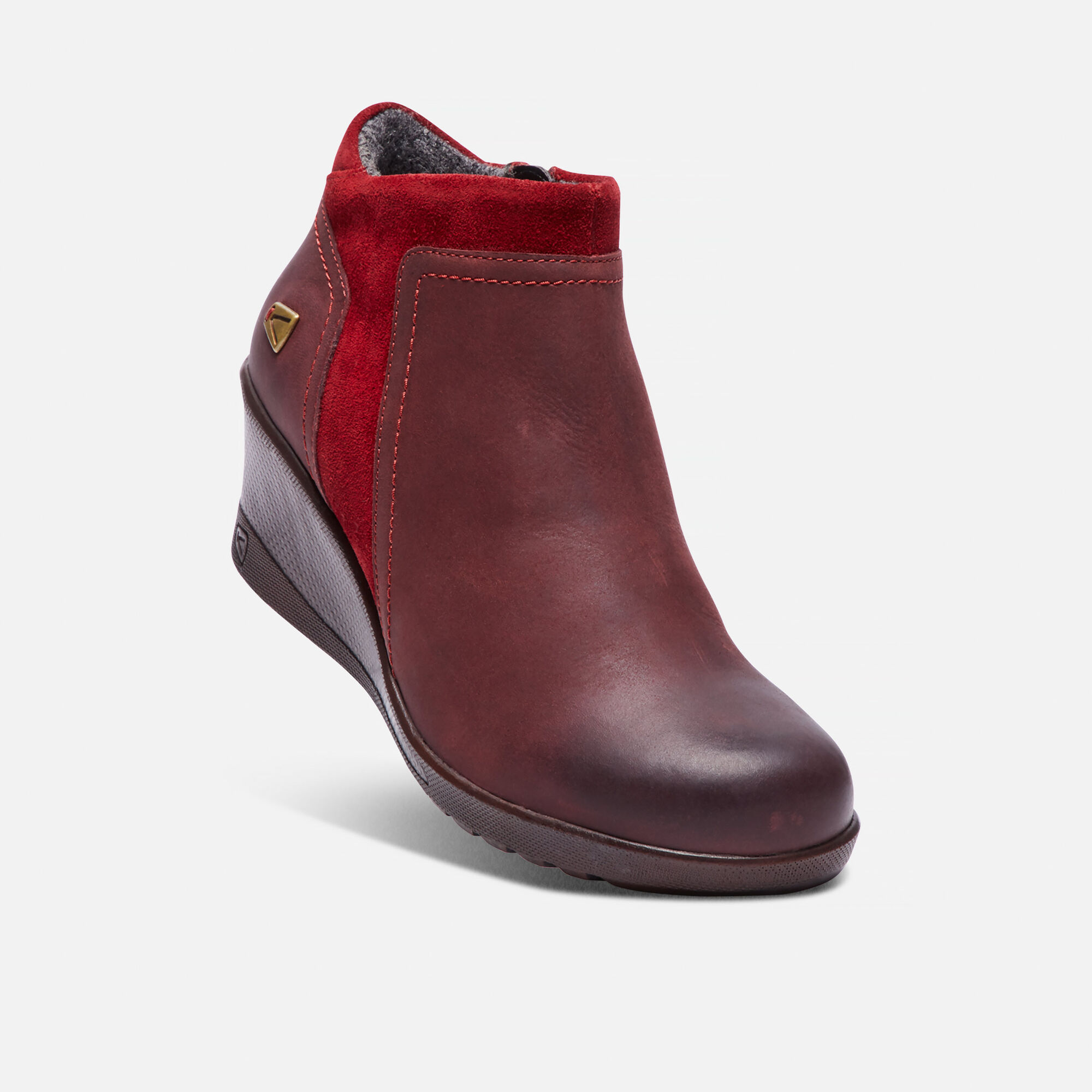 ce08cc6a538 Women s KEEN Wedge Zip in Red Dahlia - small view.