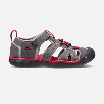 Older Kids' Seacamp II Cnx Sandals in MAGNET/RACING RED - large view.