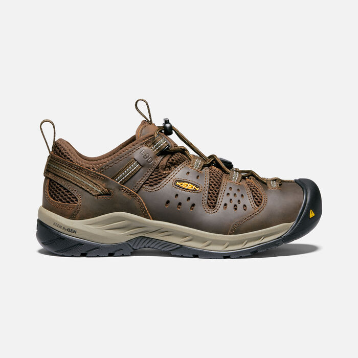 Men's Atlanta Cool II ESD (Soft Toe) in Cascade Brown/Forest Night - large view.