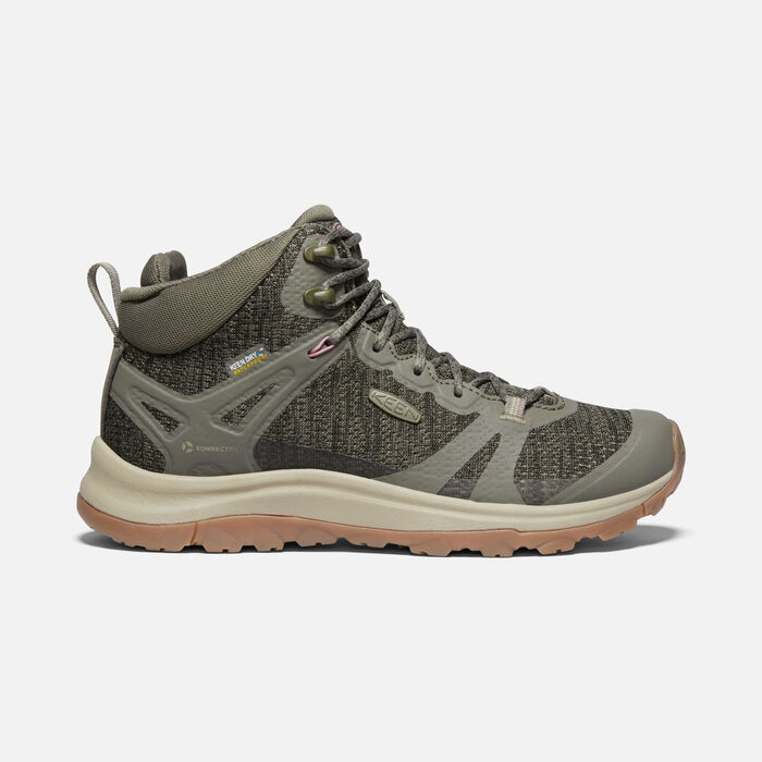 TERRADORA II MID WP BOOT POUR FEMME in Dusty Olive/Nostalgia Rose - large view.