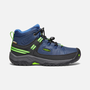 Targhee Waterproof Boot Pour Jeunes in BLUE OPAL/BRIGHT GREEN - large view.