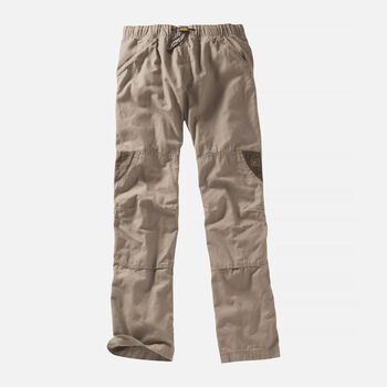 MEN'S SLACKER CASUAL TROUSERS in Khaki/Olive Green - large view.