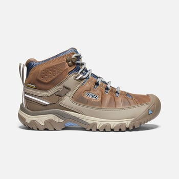 Women's Targhee III Waterproof Hiking Boots in BRINDLE/QUIET HARBOR - large view.