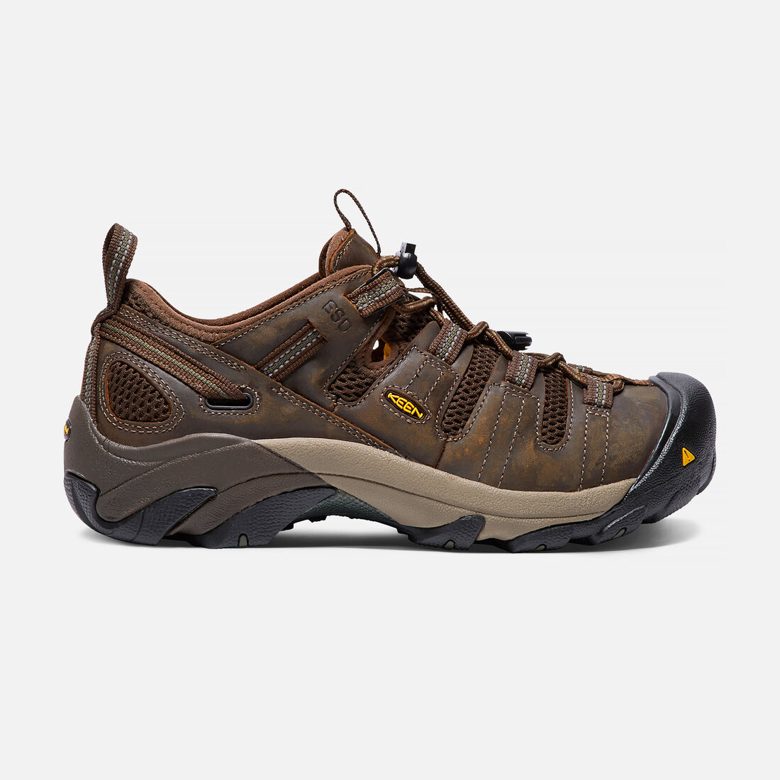 Men's Atlanta Cool ESD (Soft Toe) in Cascade Brown/Forest Night - large view.