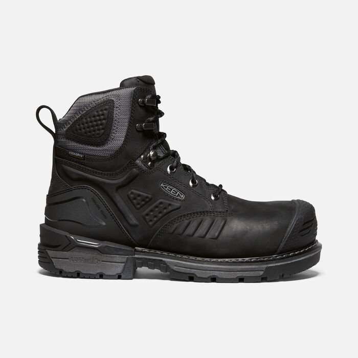 "Men's Philadelphia 6"" Waterproof Boot (Carbon-Fiber Toe) in BLACK/STEEL GREY - large view."