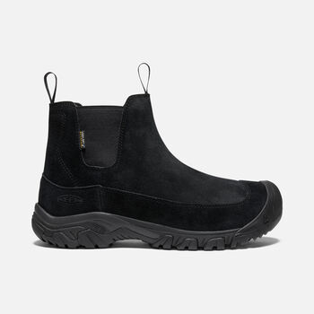 Men's Anchorage Boot III Suede Waterproof in BLACK/RAVEN - large view.