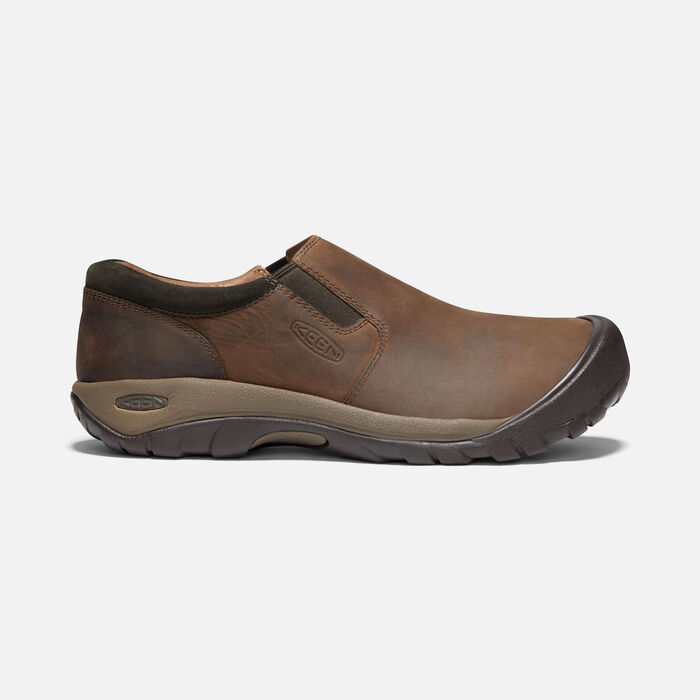 Men's Austin Casual Slip-On in CHOCOLATE BROWN/BLACK OLIVE - large view.