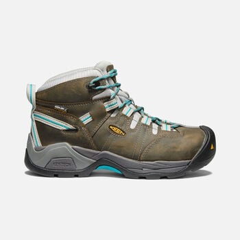 Women's Detroit XT Waterproof Boot (Steel Toe) in GARGOYLE/LAKE BLUE - large view.