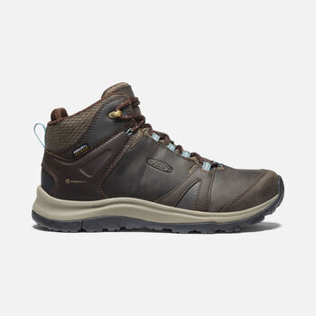 Women's Terradora II Leather Waterproof Boot in Coffee Bean/North Atlantic - large view.