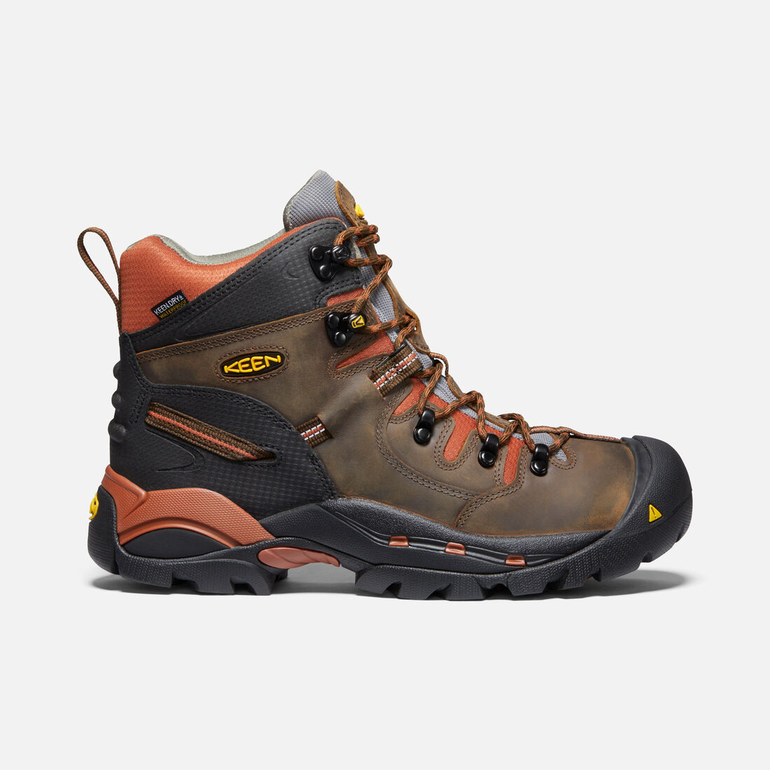 """Men's Pittsburgh 6"""" Waterproof Boot (Soft Toe) in Cascade Brown/Bombay Brown - large view."""
