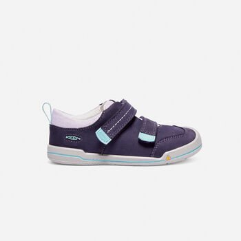 Younger Kids' Sprout Double Strap trainers in Purple Plumeria/Sweet Lavender - large view.