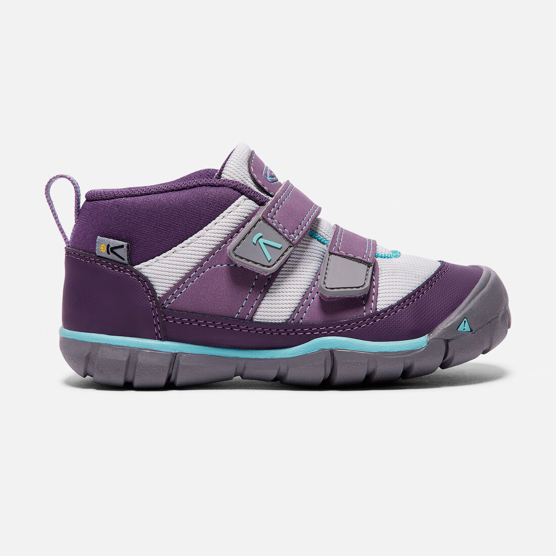 YOUNGER KIDS' PEEK-A-SHOES TRAINERS in Purple Plumeria/Sweet Lavender - large view.