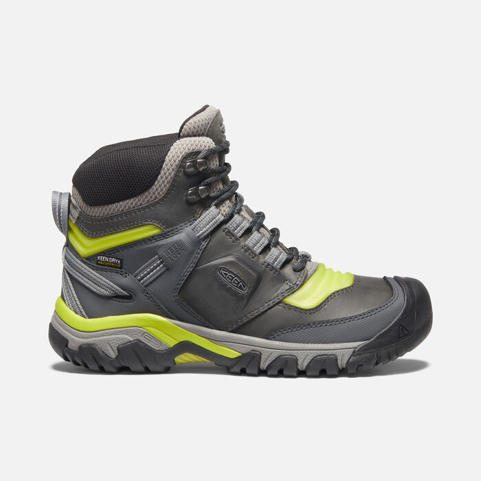 Ridge Flex Waterproof Wanderstiefel für Herren in Steel Grey/Evening Primrose - large view.