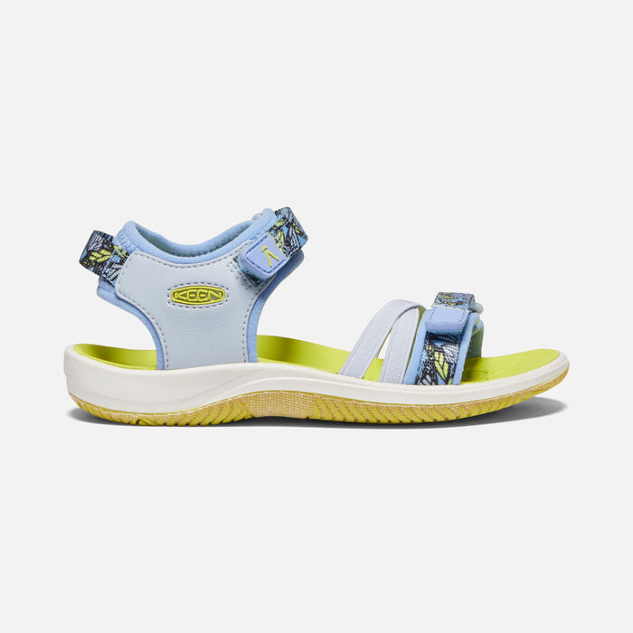 Younger Kids' Verano Sandals in Hydrangea/Evening Primrose - large view.