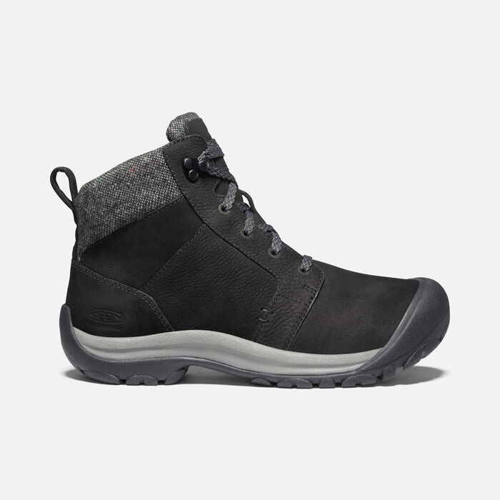 Women's Kaci II Winter Waterproof Boot in Black/Steel Grey - large view.