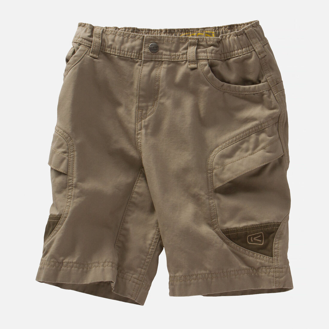 Kids' KEEN Newport Short in Khaki/Olive Green - large view.