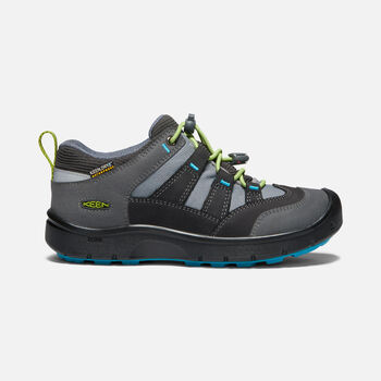 Older Kids' Hikeport Waterproof Hiking Trainers in MAGNET/GREENERY - large view.
