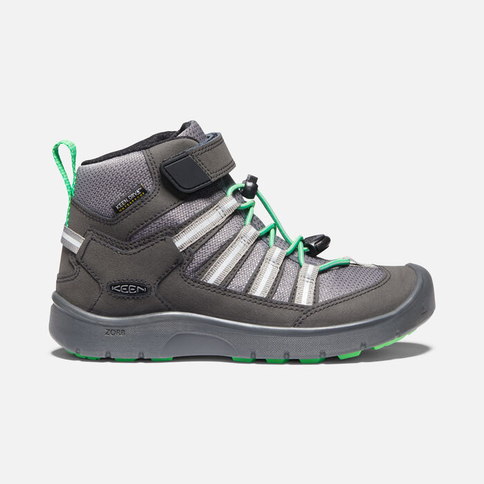 Older Kids' Hikeport II Sport Waterproof Trainer Boots in Black/Irish Green - large view.