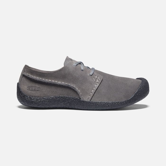 Men's Howser Suede Oxford Shoes in Steel Grey/Black - large view.