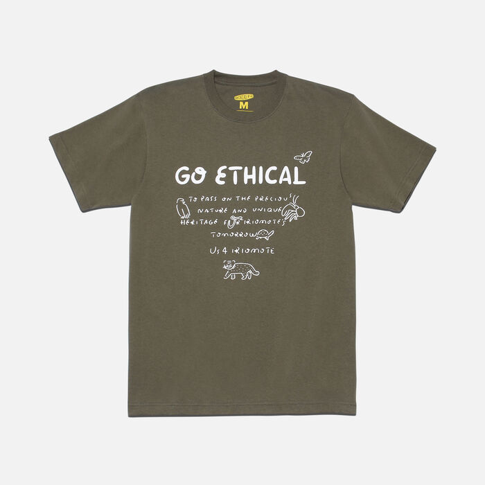 US 4 IRIOMOTE チャリティTシャツ『GO ETHICAL』 in Olive - large view.
