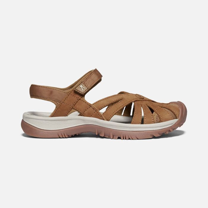 ROSE SANDAL LEATHER POUR FEMME in Tan - large view.