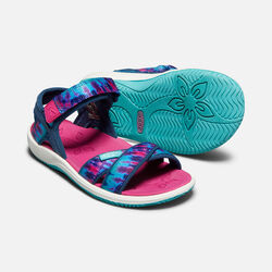 YOUNGER KIDS' PHOEBE SANDALS in NAVY TIE DYE - small view.