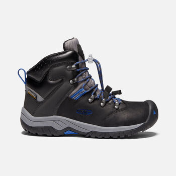 Older Kids' Torino II Waterproof Boots in BLACK/BALEINE BLUE - large view.